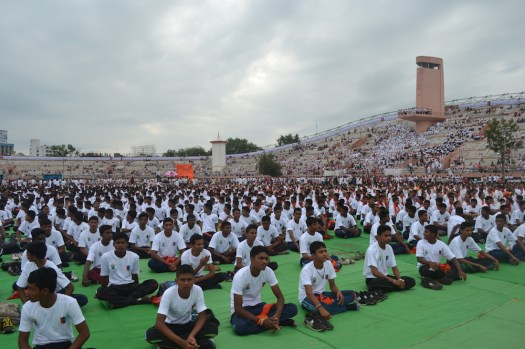 21st June JS Yog International Yoga Day Yashwant Stadium, Nagpur CM Devendra Fadnavis Union Minister Nitin Gadkari_92