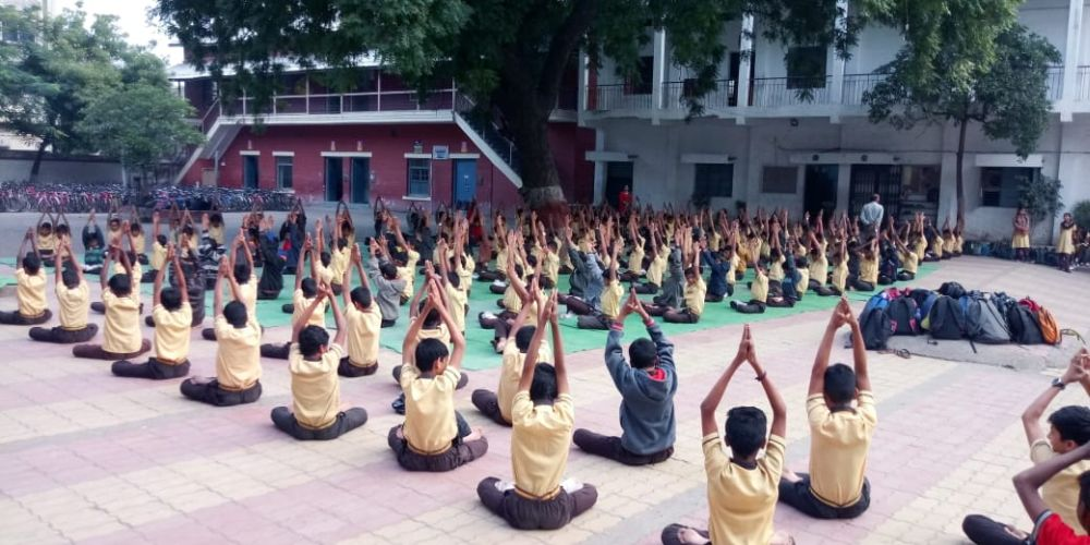 New-English-High-school-Mahal-7-1-20-Inter-school-yogasan-competition-training-2019-2