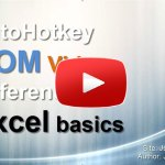 AutoHotkey COM Video Reference: Excel basics