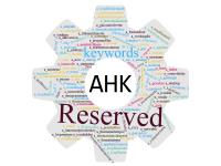 Reserved keywords AutoHotkey