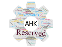 Reserved keywords AutoHotkey