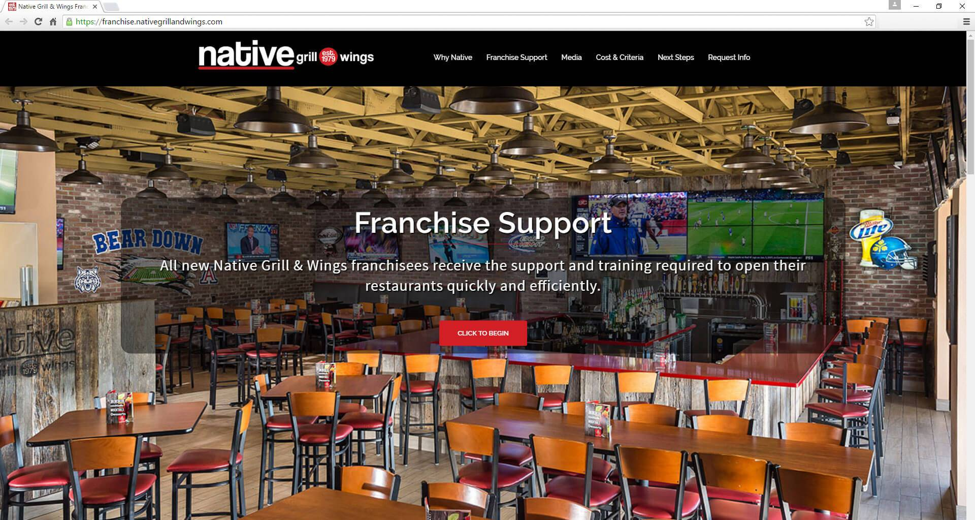 Native Grill and Wings Franchise | Developed by JTag Internet Design