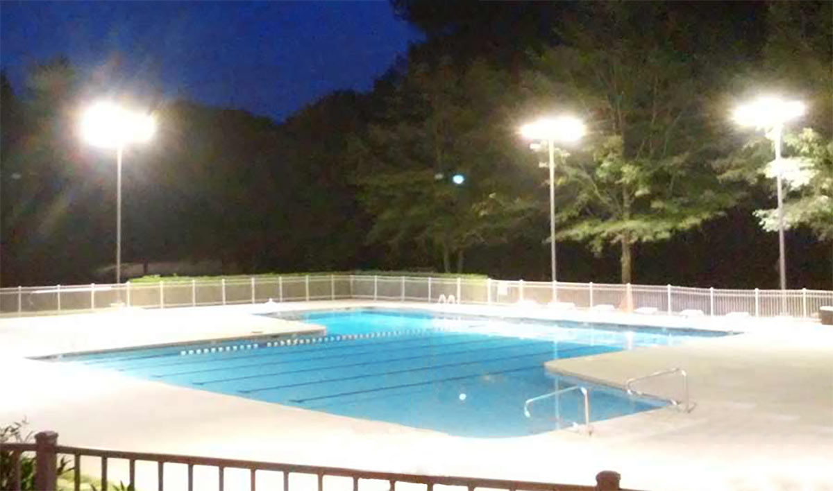 iluminacion piscina electricista comercia