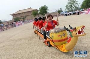 bateau-dragon à roulettes