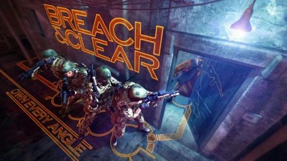 affiche du jeu tactique breach and clear