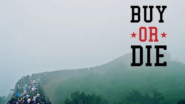 touristes sur la grande muraille de Chine
