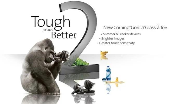 publicité pour les écrans corning gorilla glass 2