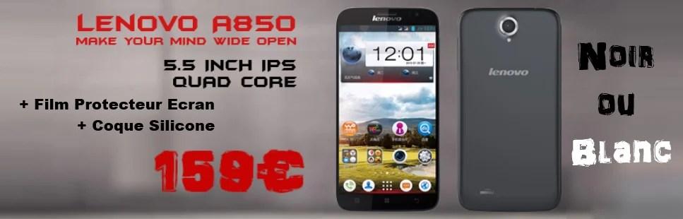 Promotion Sciphone Lenovo A850 Film Protecteur Coque Silicone