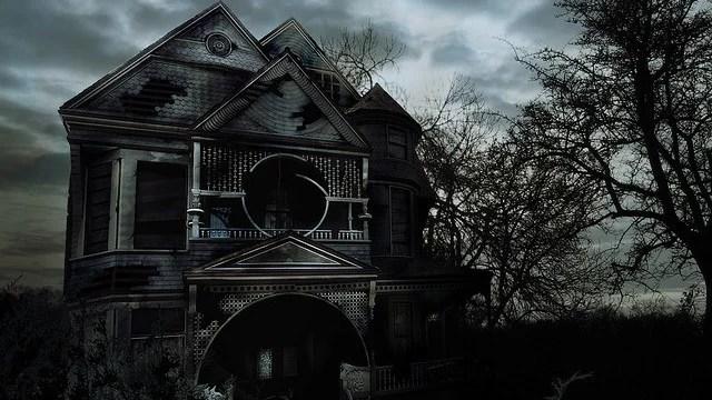 maison abandonnée effrayante