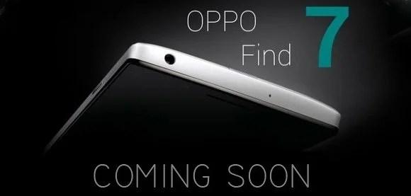 photo publicitaire de l'oppo find 7