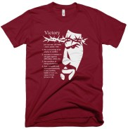'Definition of Victory' Tee Maroon/Light Gray