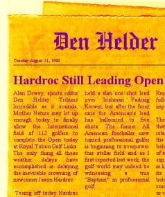 Hardroc leading Open in 1990