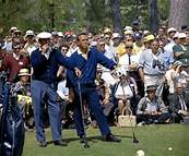 Ben Hogan & Arnie waiting on the tee at Augusta National