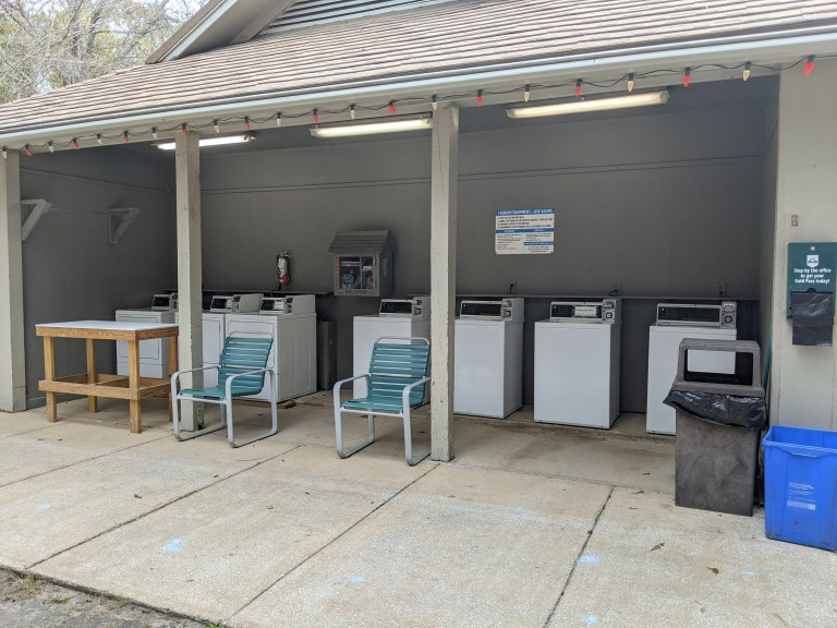 Laundry at James Island County Park campground