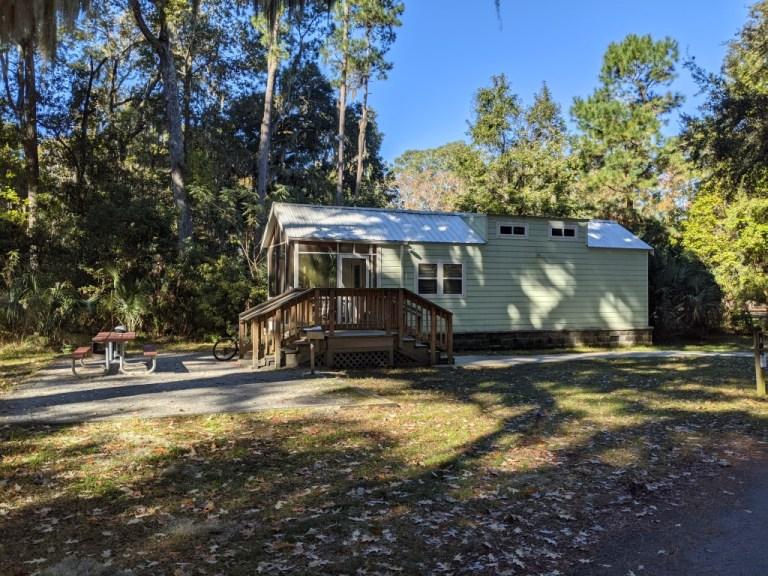 Skidaway Island State Park camper cabin