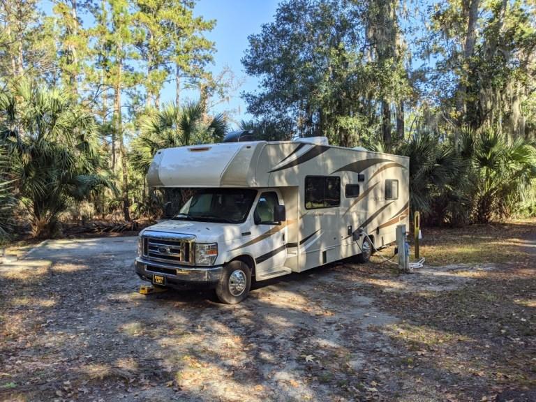 Skidaway Island State Park campground site
