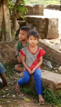 There were several children at Angkor Thom and Angkor Wat selling souvenirs and begging for money.