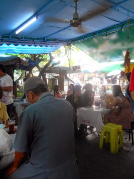 An outdoor restaurant in a Bangkok where we ate lunch.