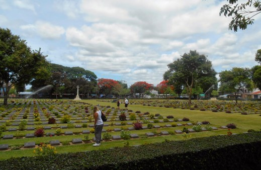 The Kanchanaburi War Cemetery contains the graves of POWs who died during the construction of the Burma Railway during World War II.