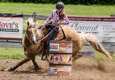 Editorial - Sports photography - Barrel racing.