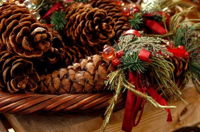 Product photography - Festive pine cones.