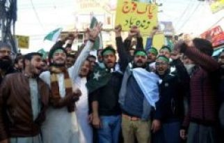 RAWALPINDI Traders hold protest against the Indian aggression and show solidarity with the Pakistan Army.