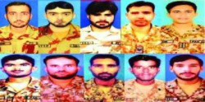 Martyred Pak Army captain Aqib Javed & soldiers in two terrorist attacks in Pakistan