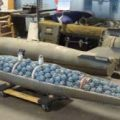 Cluster Bomb are Preparing in the Laboratory, witch is very destroying munition is a form of air-dropped or ground-launched explosive weapon that releases or ejects smaller submunitions. Commonly,