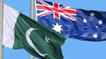 Pakistan Australia national flags