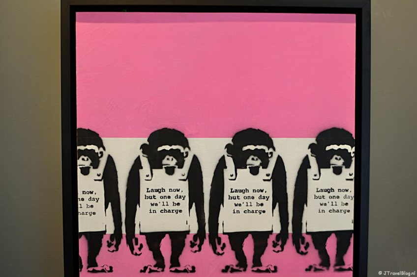 'Laugh Now' van Banksy