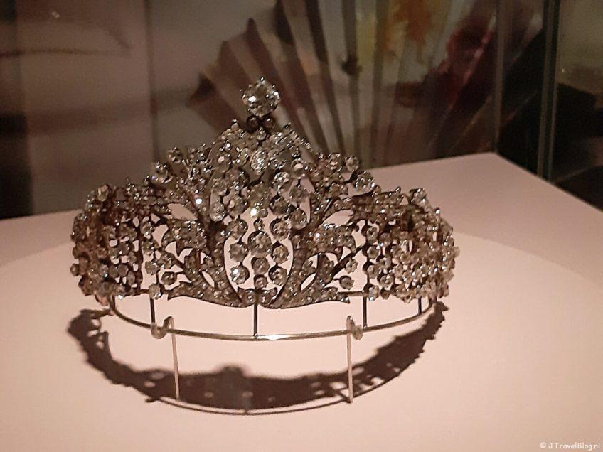Kroon tijdens de tentoonstelling Juwelen! in de Hermitage in Amsterdam