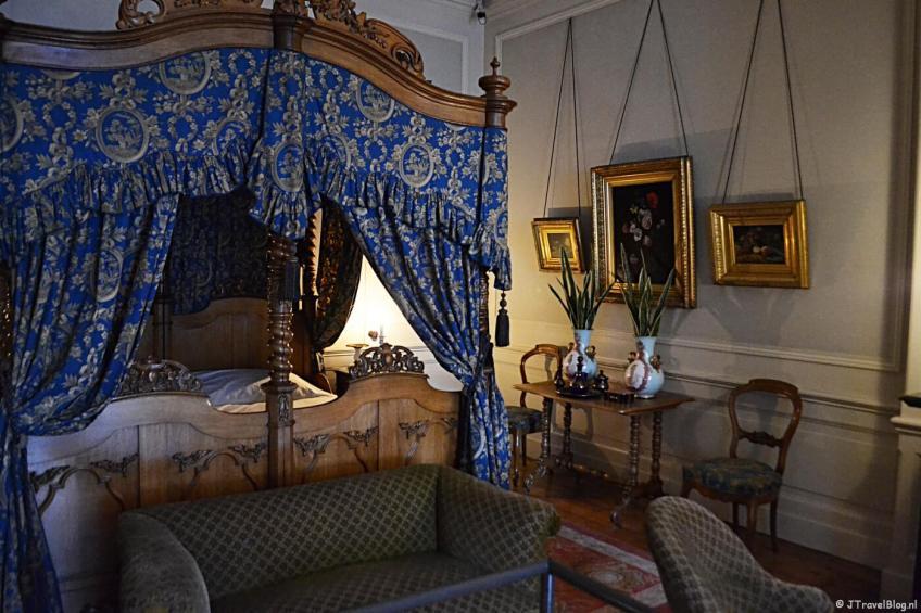 De slaapkamer in Museum Willet-Holthuysen in Amsterdam