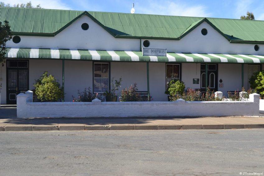 Die Dorphuis in Calvinia in Zuid-Afrika