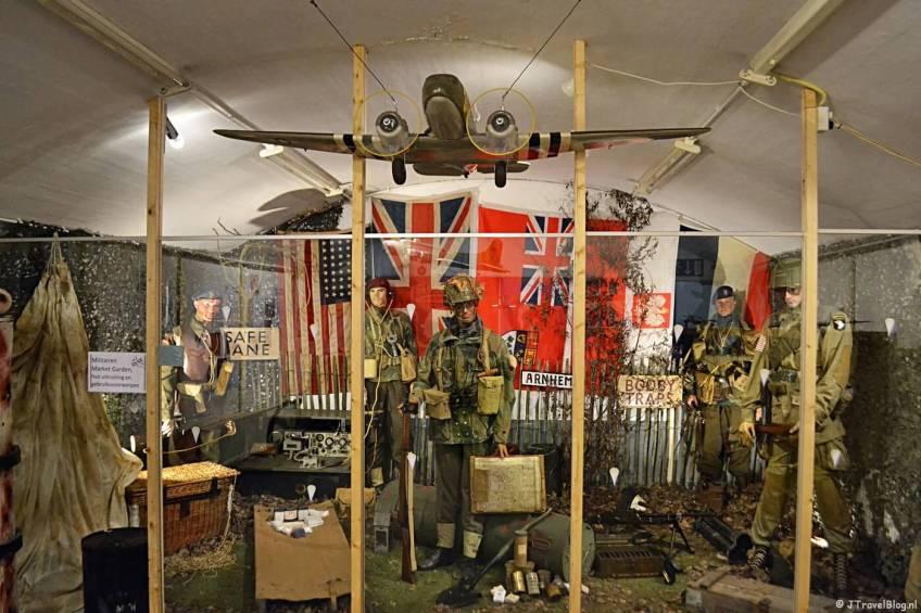 De tentoonstelling Operatie Market Garden in het CRASH Luchtoorlog & Verzetsmuseum '40-'45 in Aalsmeerderbrug