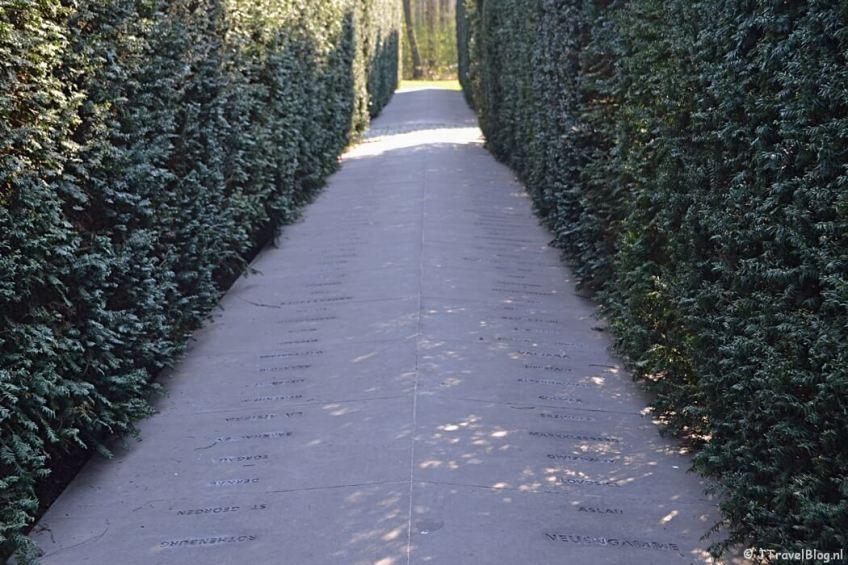 Het Dachaumonument in het Amsterdamse Bos tijdens mijn wandeling langs het groene deel van de Amsterdamse Zuidas