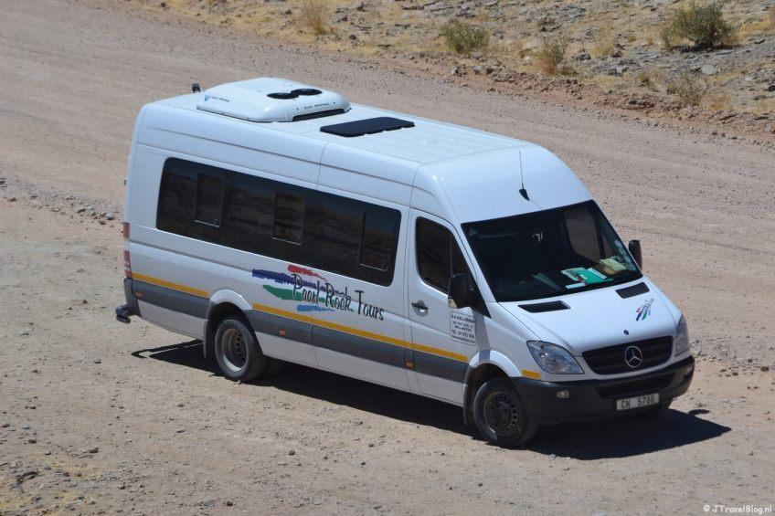 De bus waarmee ik met een groep door Namibië (en Zuid-Afrika) reisde