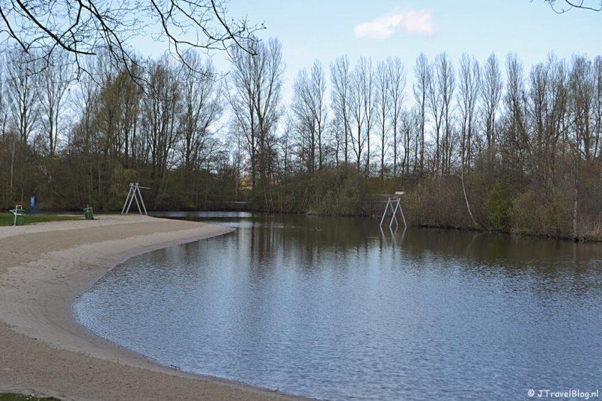 De spartelvijver in het Haarlemmermeerse Bos in Hoofddorp tijdens de Trage Tocht Vijfhuizen