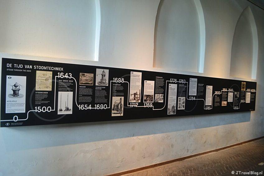 De tijdlijn in het Cruquius Museum