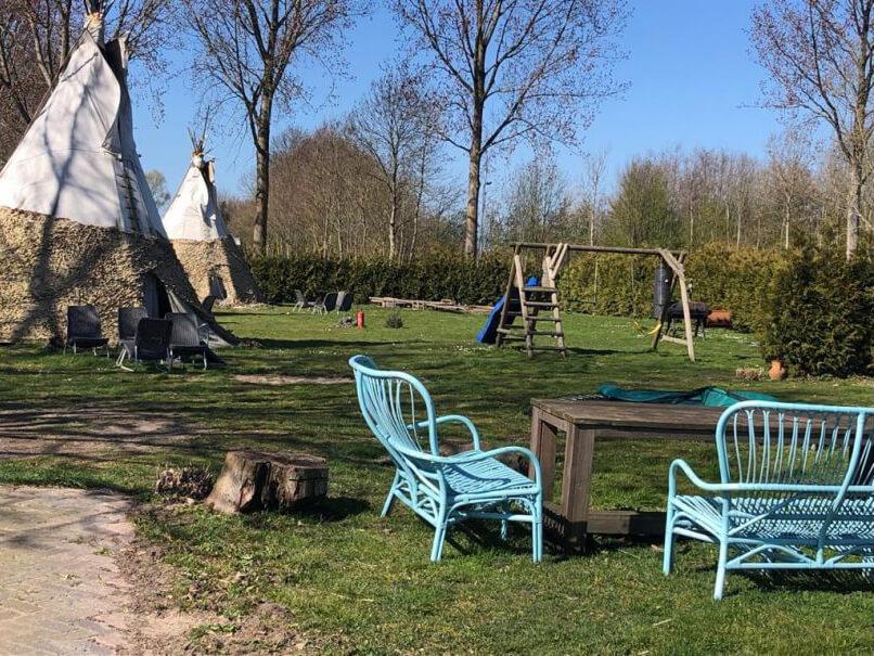 Tipi tent in Zwaanshoek/Noord-Holland