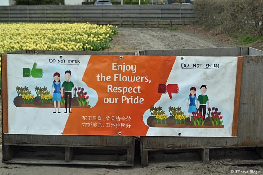 Enjoy the Flowers, Respect our Pride tijdens de Bollenstreekwandeling rond De Zilk