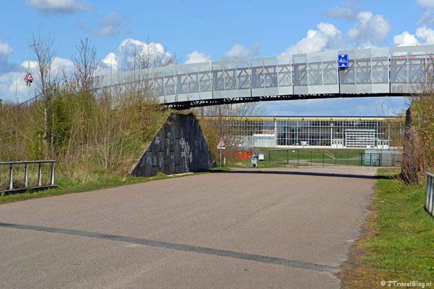 De brug aan het einde van Recreatiegebied Groene Weelde tijdens de Trage Tocht Vijfhuizen