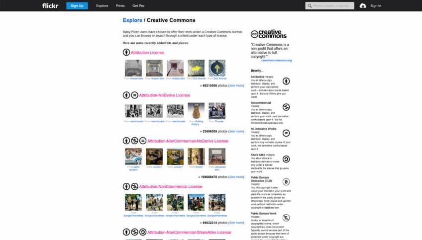 Flickr: een website met gratis afbeeldingen