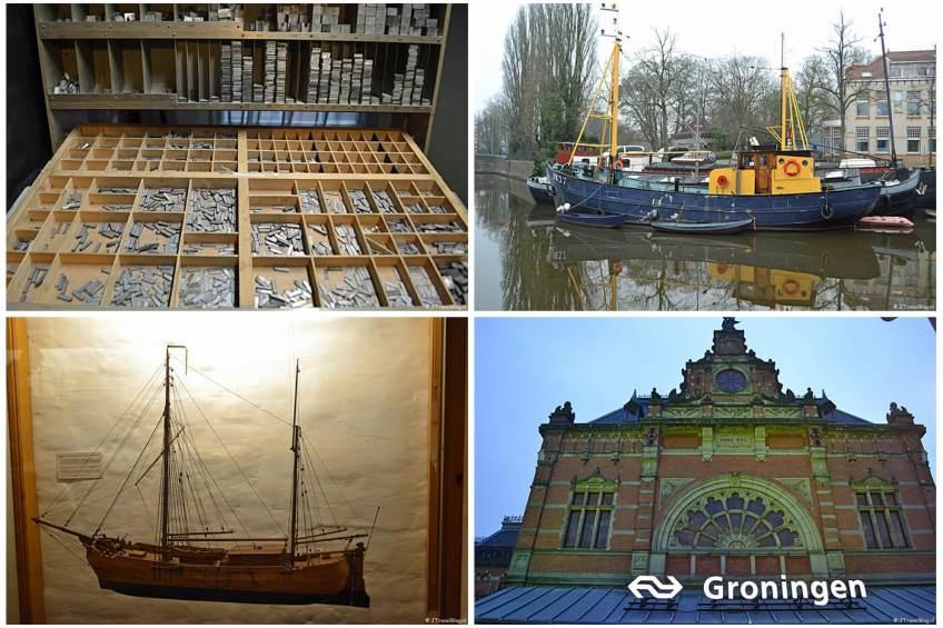 Uitje naar Groningen in het kader van mijn therapie met het GRID Grafisch Museum Groningen, de Noorderhaven, het Noordelijk Scheepvaartmuseum en het Station van Groningen.