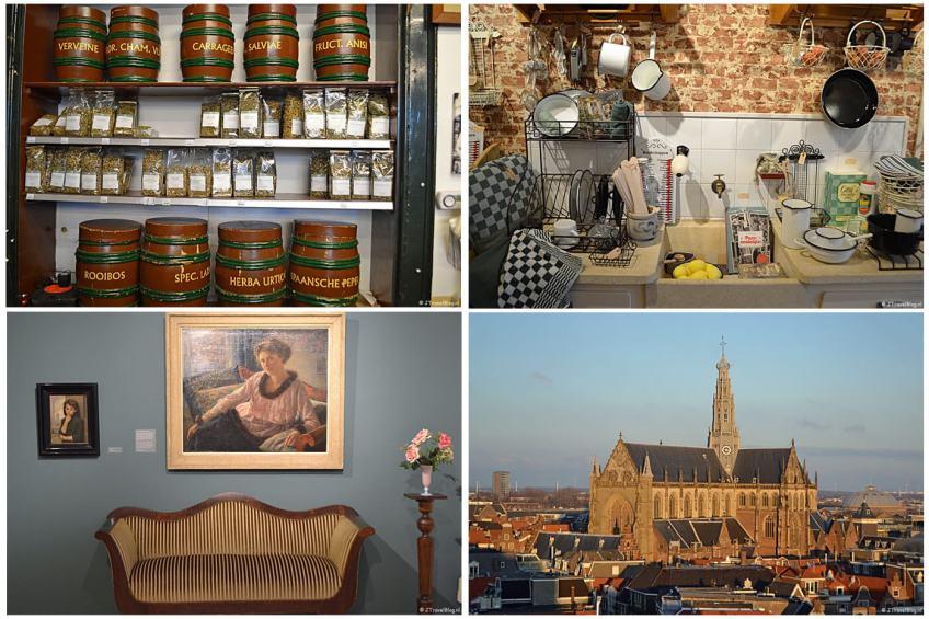 Uitje naar Haarlem in het kader van mijn therapie met Apotheek van der Pigge, Eef & Co (beide aan de Gierstraat), de tentoonstelling Simon de Heer in Museum Haarlem en uitzicht over de St. Bavokerk vanaf het terras van de Hudson's Bay.
