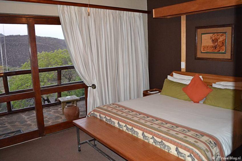 Mijn kamer in Hannah Game Lodge in Ohrigstad/Zuid-Afrika