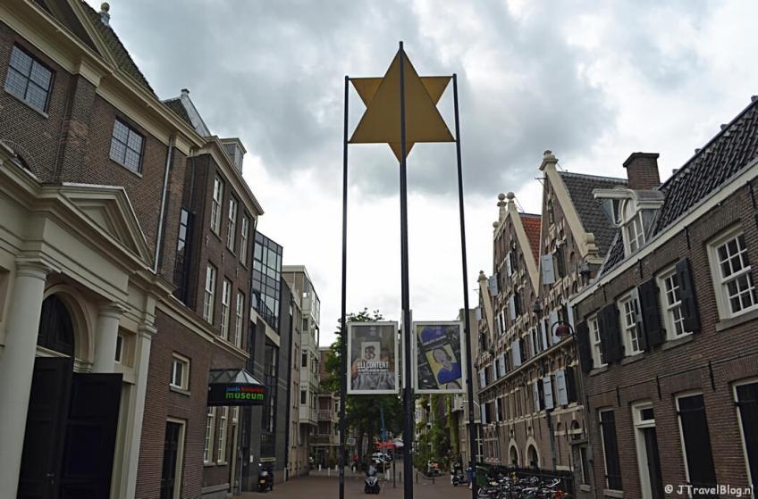 Het Joods Historisch Museum in Amsterdam tijdens etappe 0 van het Westerborkpad