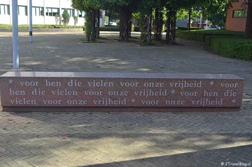 Het oorlogsmonument van Diemen tijdens de 2e etappe van het Westerborkpad
