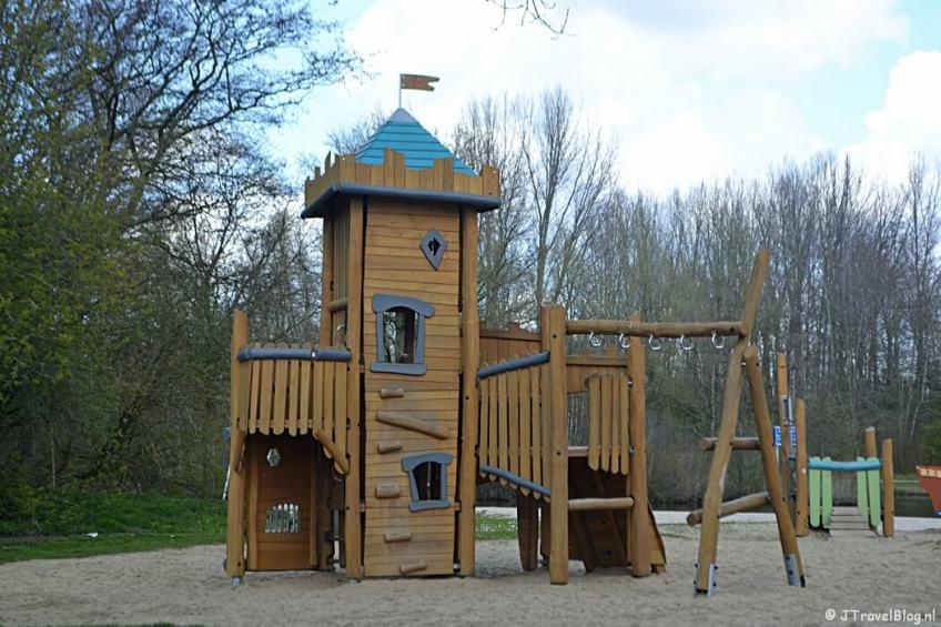 Het speelpark in het Haarlemmermeerse Bos in Hoofddorp tijdens de Trage Tocht Vijfhuizen