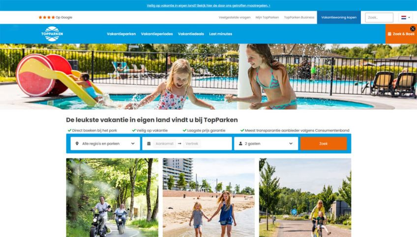 De website van Topparken