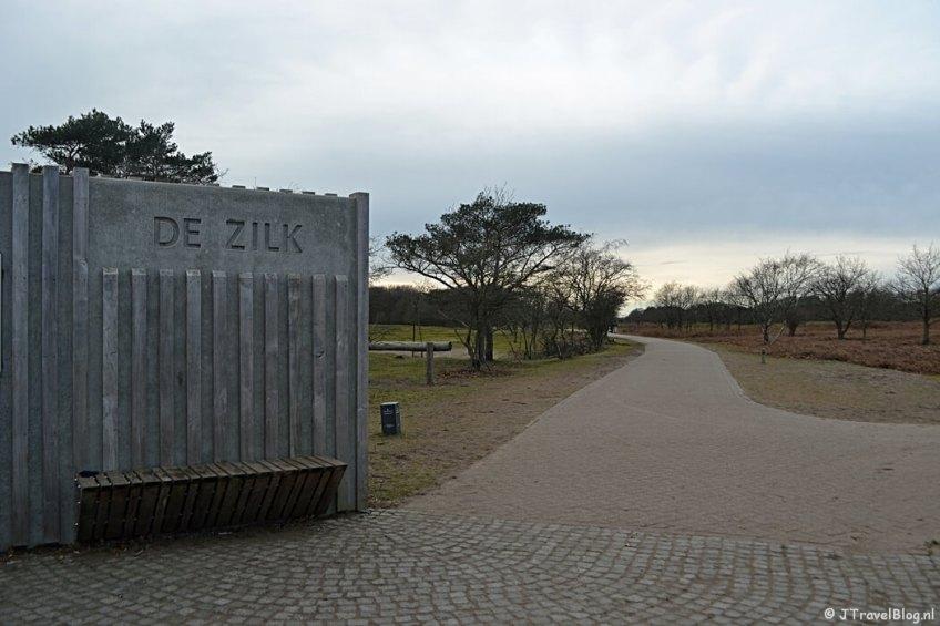Ingang De Zilk in de Amsterdamse Waterleidingduinen
